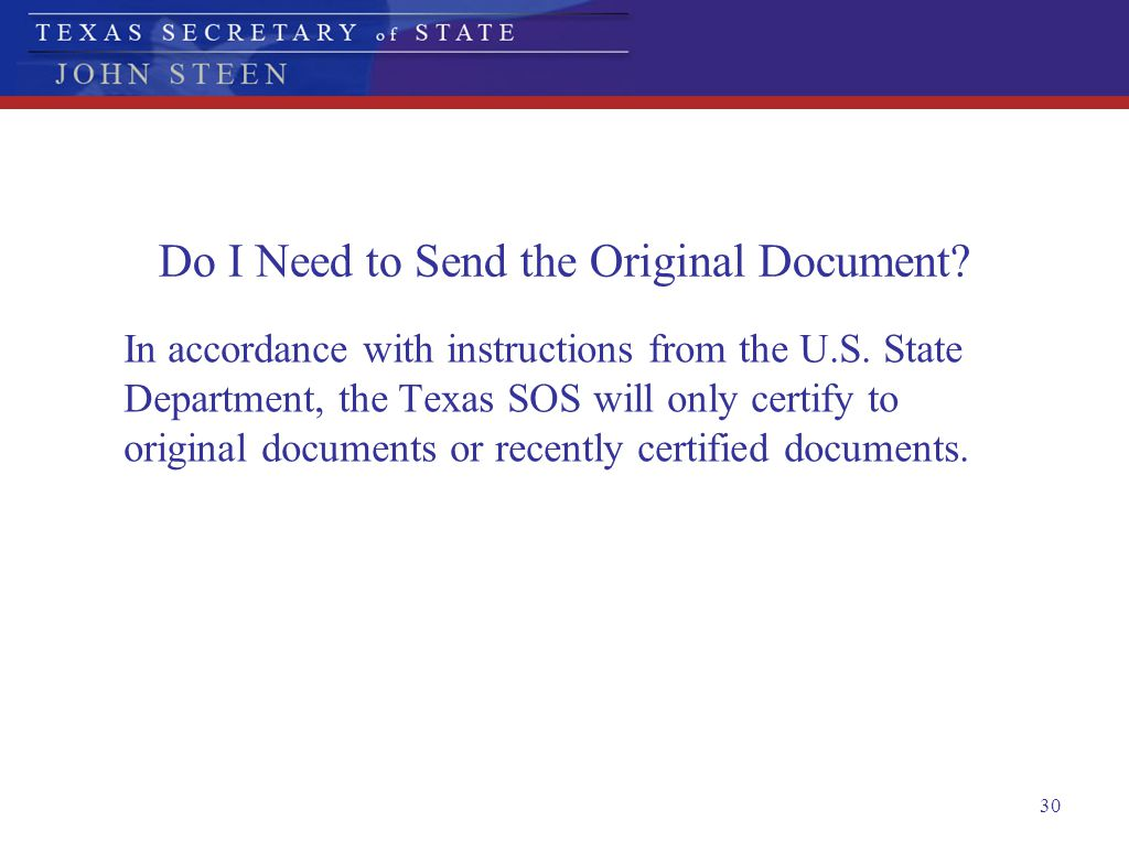 Do I Need to Send the Original Document