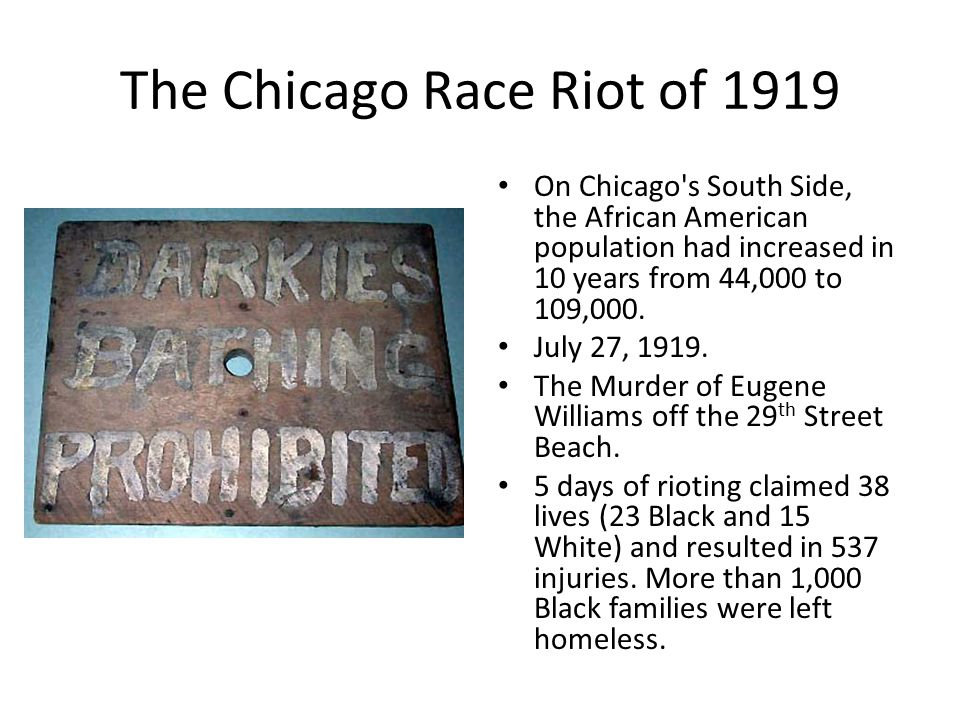 The Chicago Race Riot of 1919