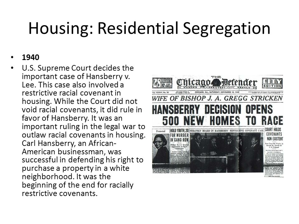 Housing: Residential Segregation