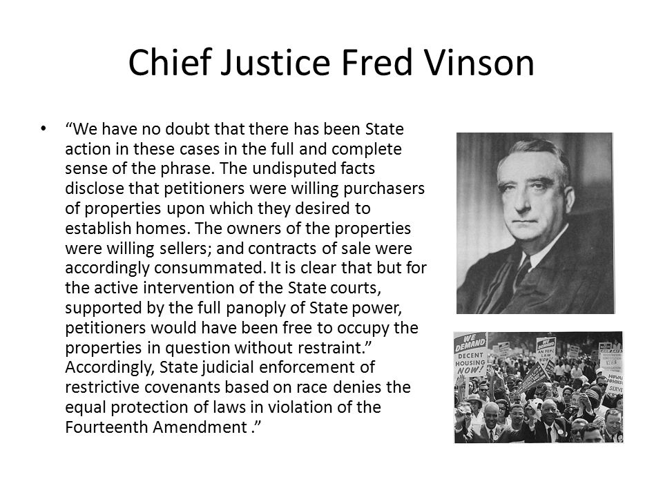 Chief Justice Fred Vinson