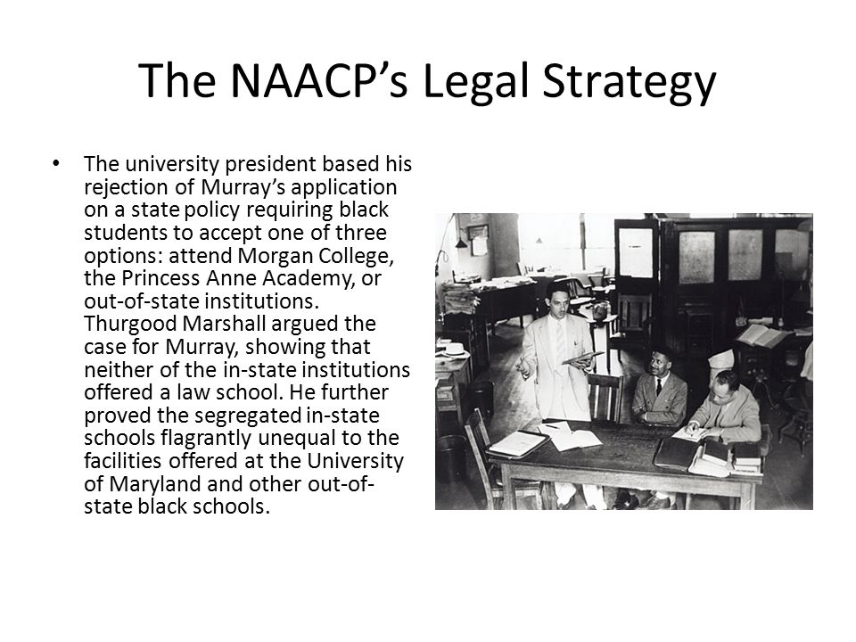 The NAACP's Legal Strategy