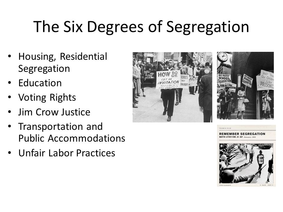 The Six Degrees of Segregation