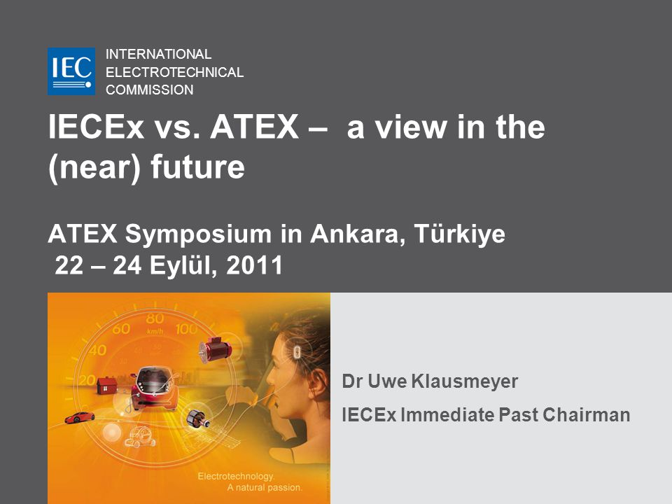 Dr Uwe Klausmeyer IECEx Immediate Past Chairman