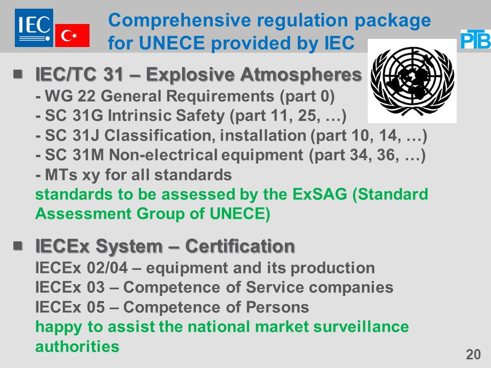 Comprehensive regulation package for UNECE provided by IEC