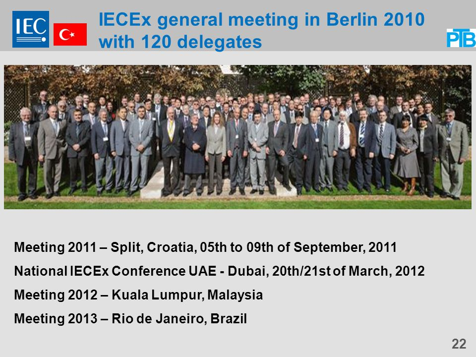 IECEx general meeting in Berlin 2010 with 120 delegates