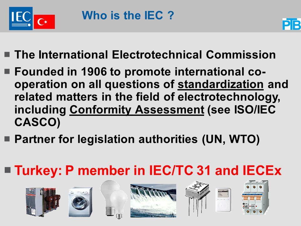 Turkey: P member in IEC/TC 31 and IECEx