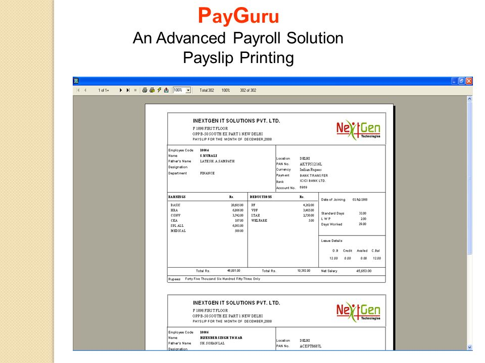 PayGuru An Advanced Payroll Solution