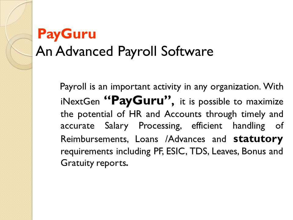 PayGuru An Advanced Payroll Software