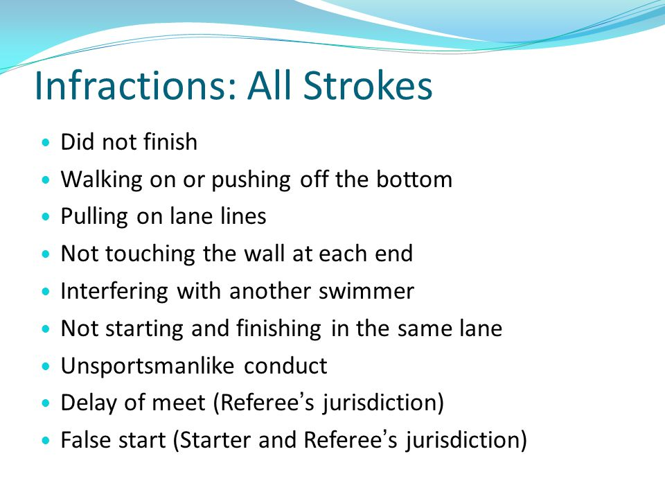 Infractions: All Strokes