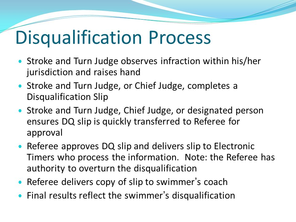 Disqualification Process