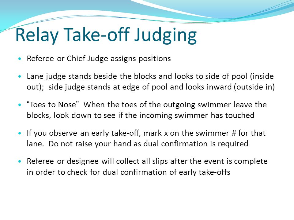 Relay Take-off Judging