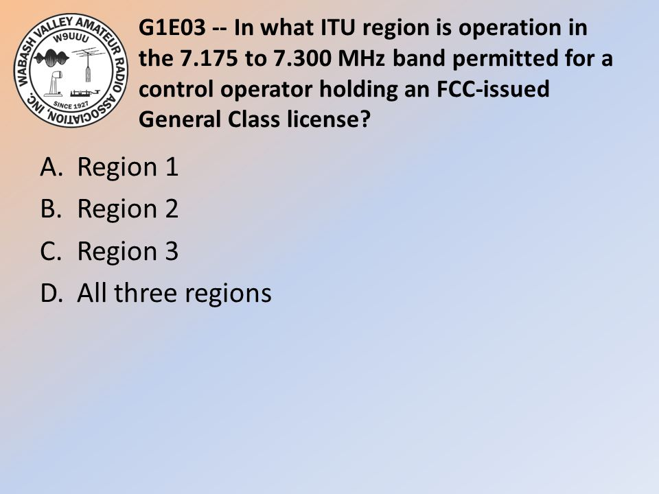 A. Region 1 B. Region 2 C. Region 3 D. All three regions