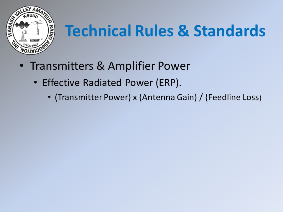 Technical Rules & Standards