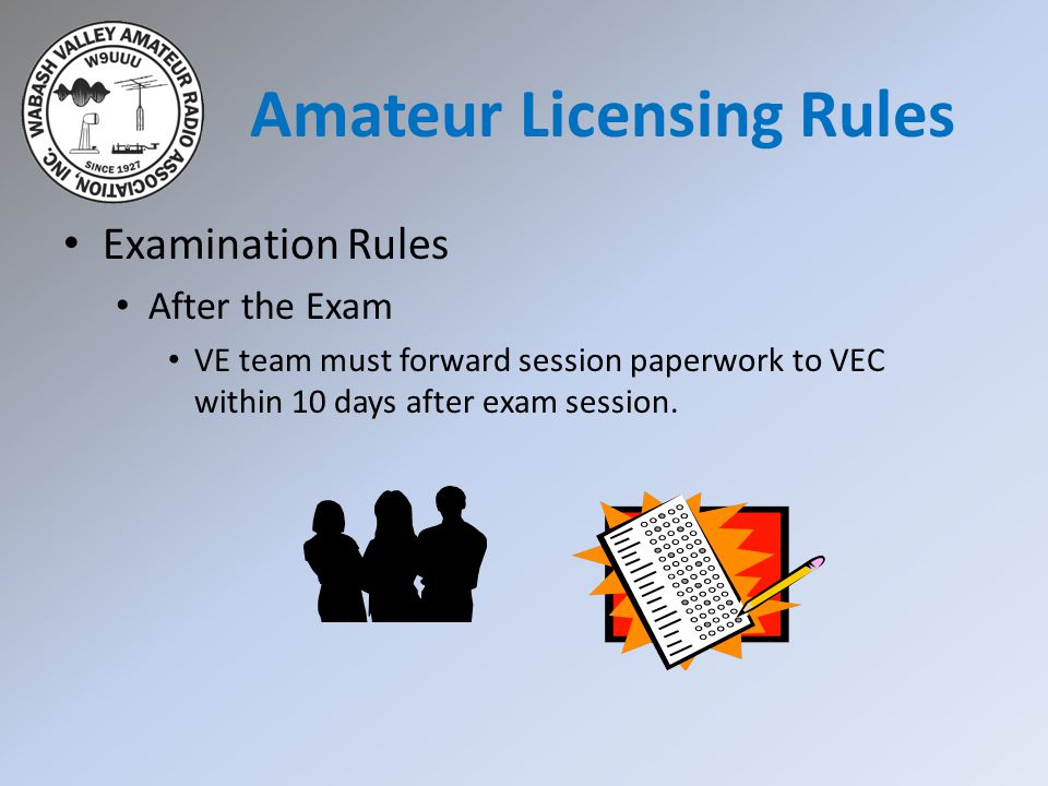 Amateur Licensing Rules