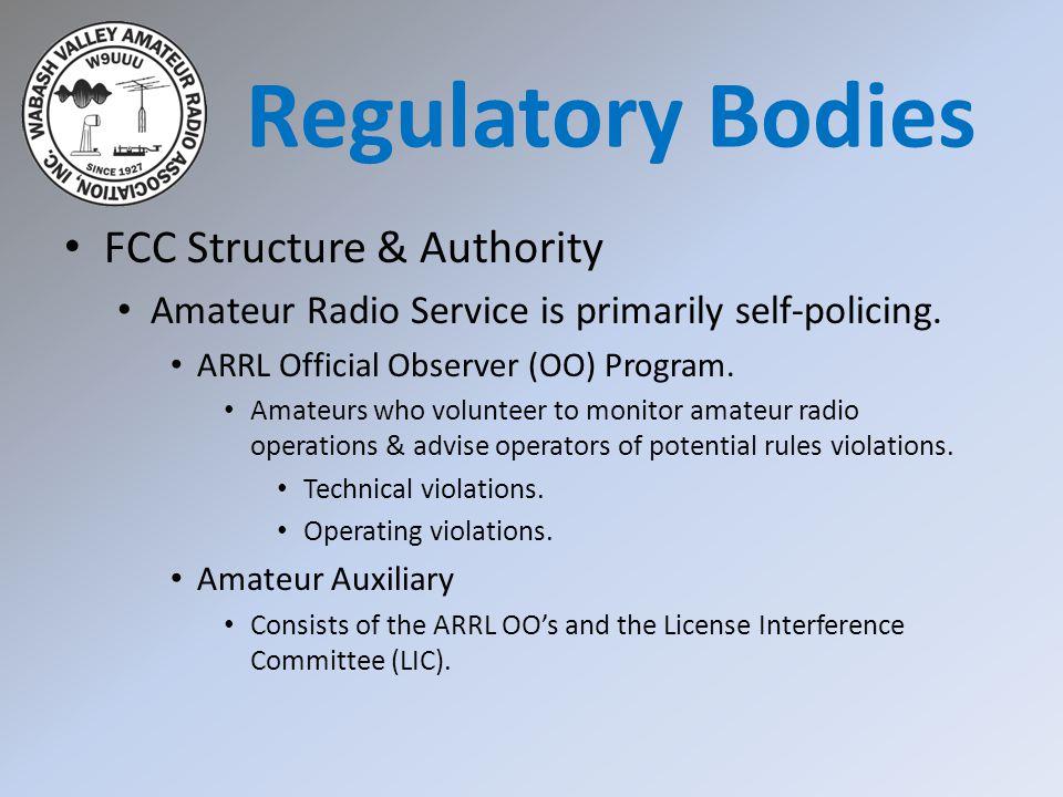 Regulatory Bodies FCC Structure & Authority