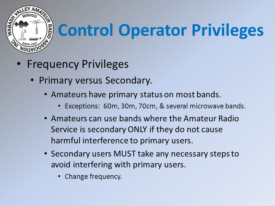 Control Operator Privileges