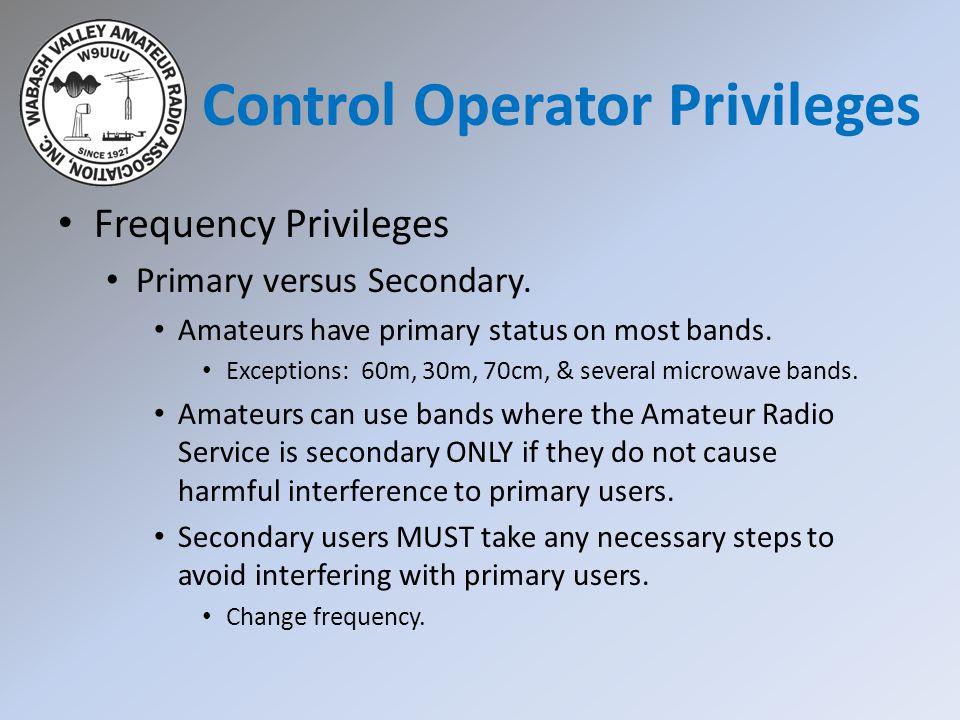 Control Operator Privileges