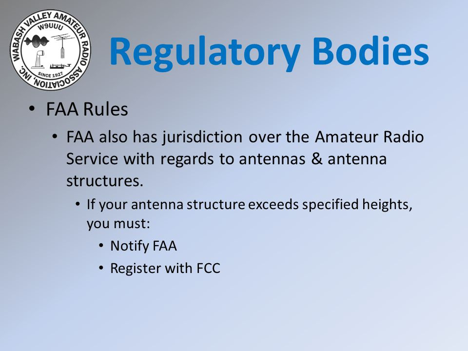Regulatory Bodies FAA Rules