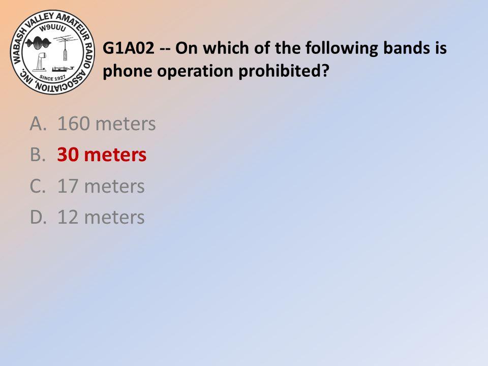 A. 160 meters B. 30 meters C. 17 meters D. 12 meters