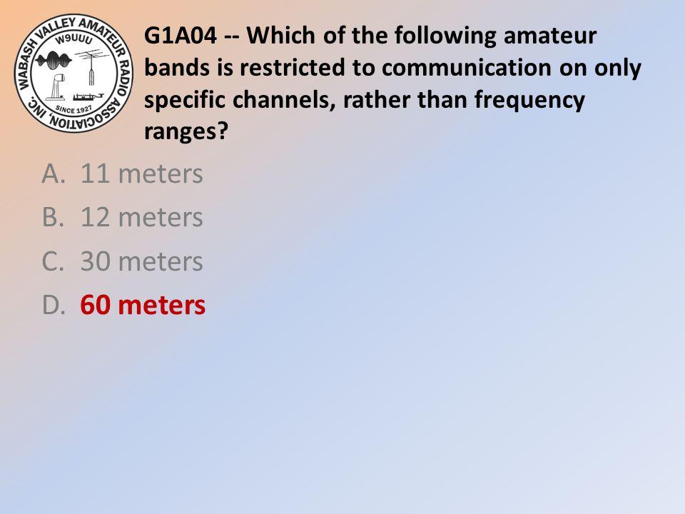 A. 11 meters B. 12 meters C. 30 meters D. 60 meters