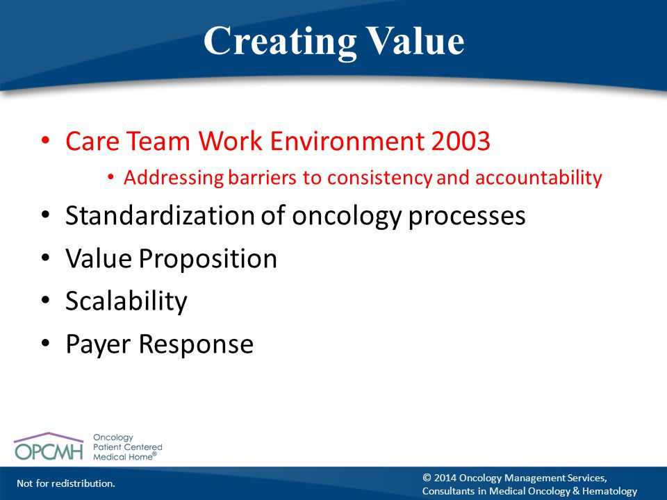Creating Value Care Team Work Environment 2003