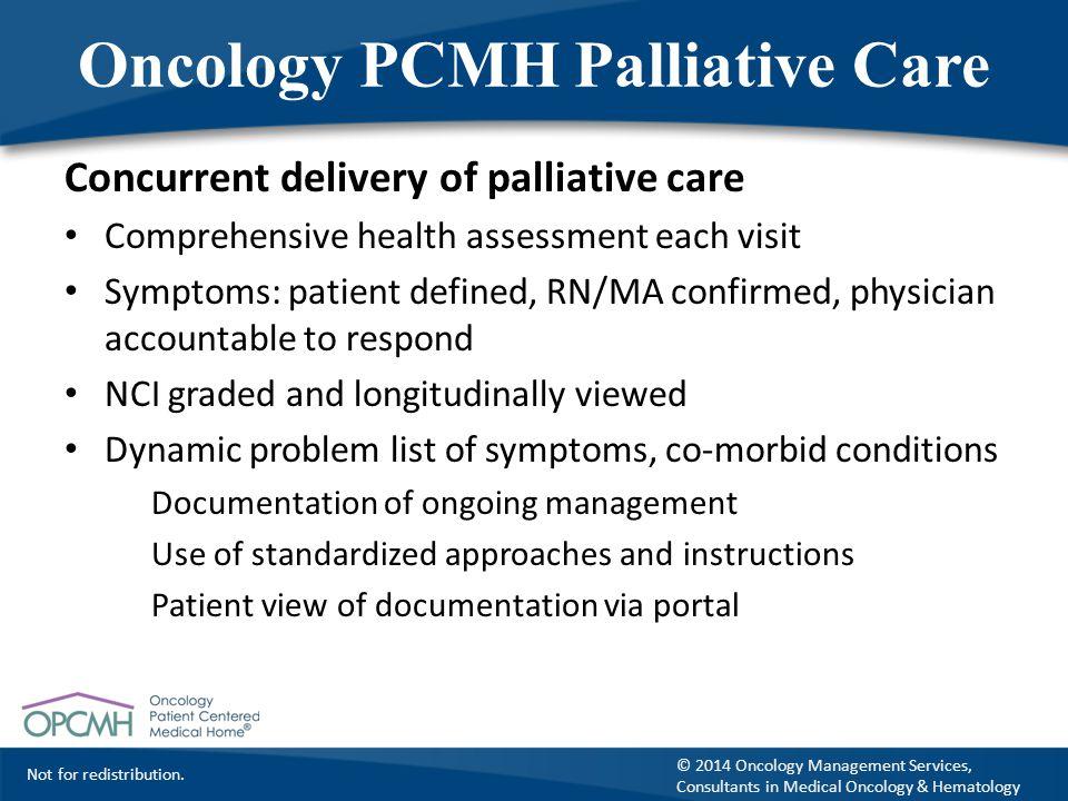 Oncology PCMH Palliative Care