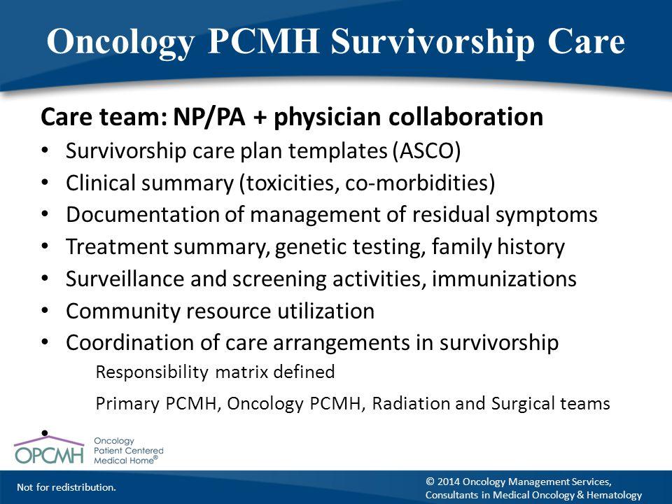 Oncology PCMH Survivorship Care