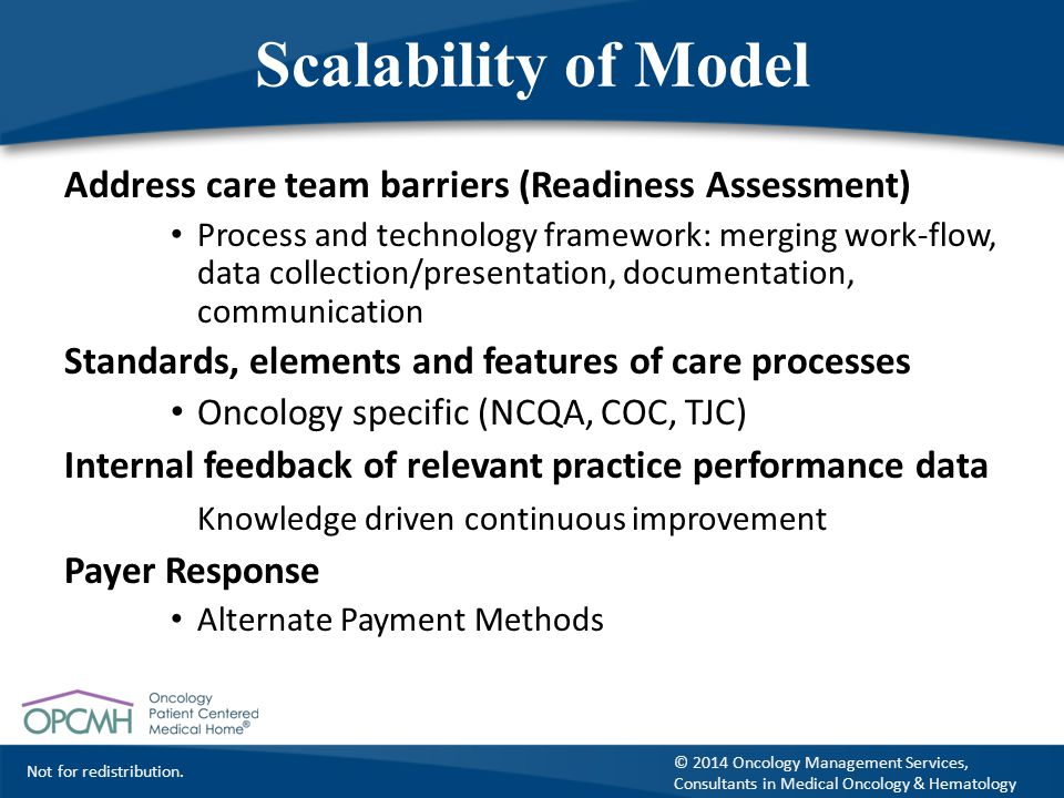 Scalability of Model Address care team barriers (Readiness Assessment)