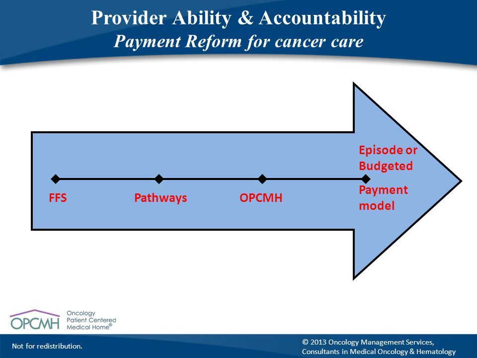 Provider Ability & Accountability Payment Reform for cancer care
