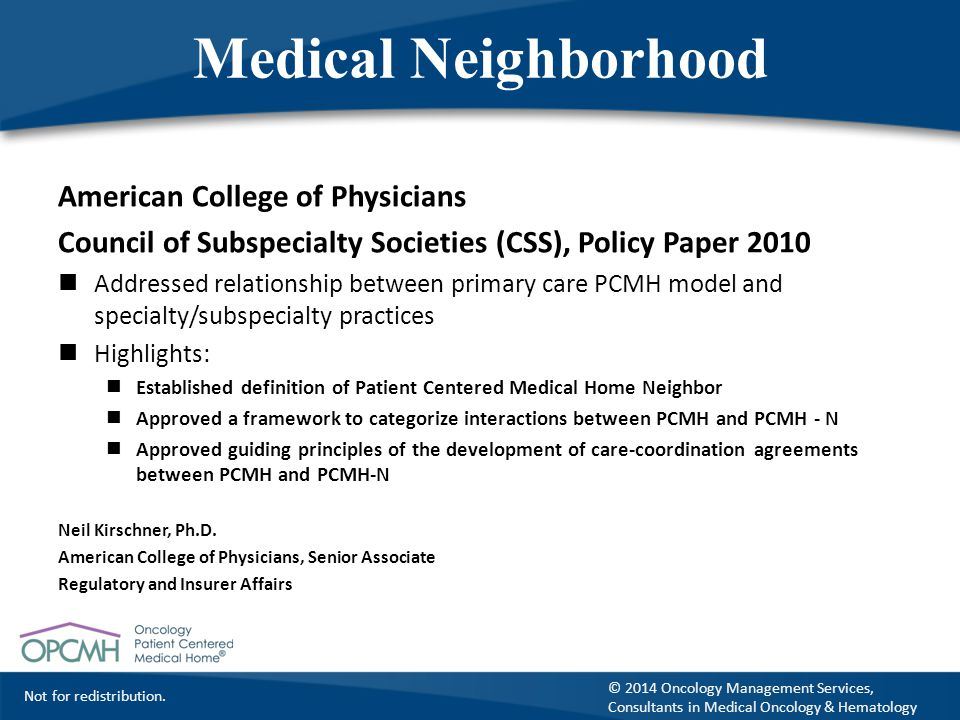 Medical Neighborhood American College of Physicians