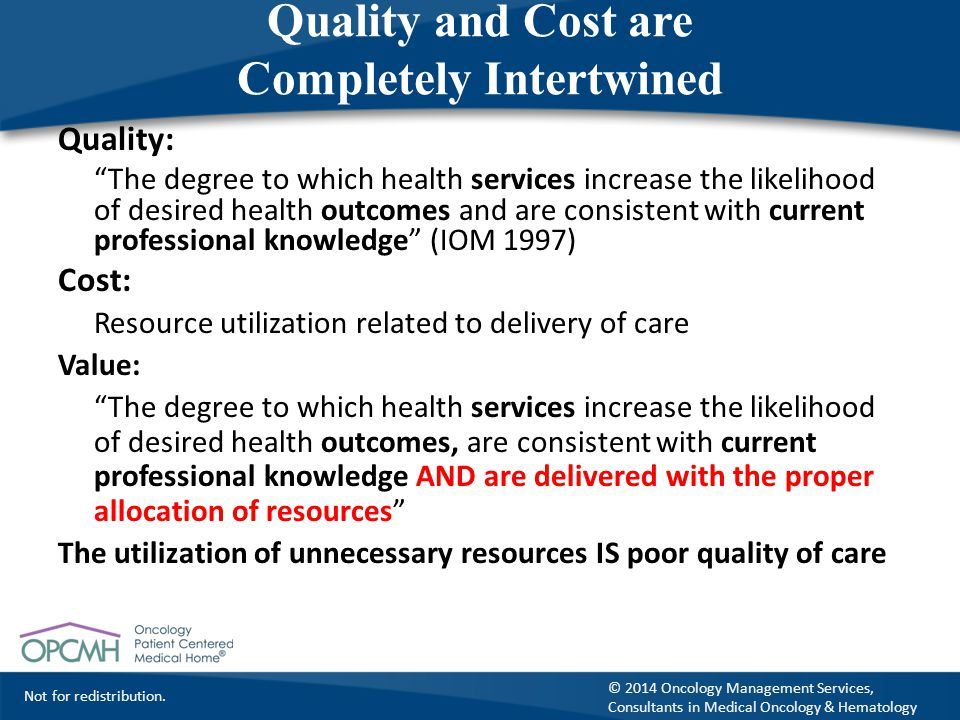 Quality and Cost are Completely Intertwined