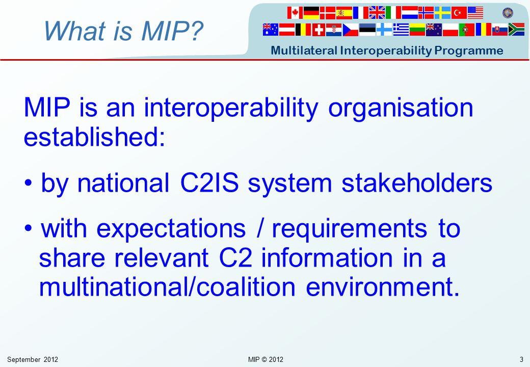 MIP is an interoperability organisation established: