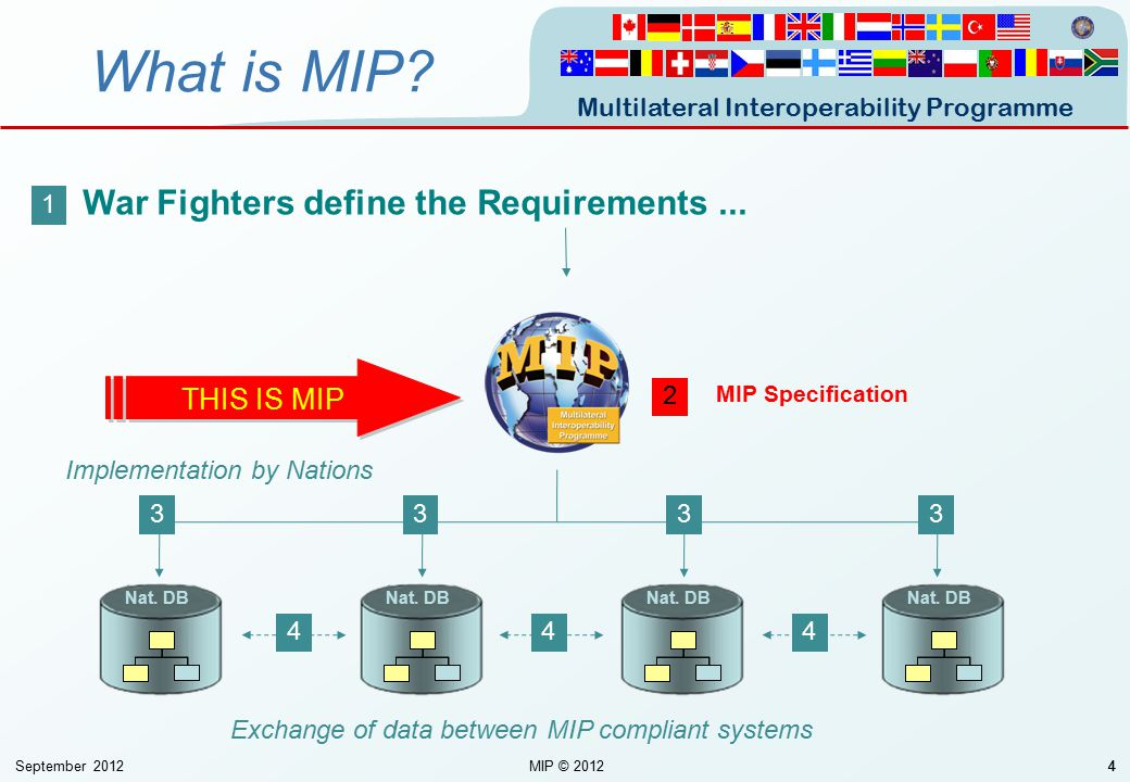What is MIP War Fighters define the Requirements ... THIS IS MIP 1 2