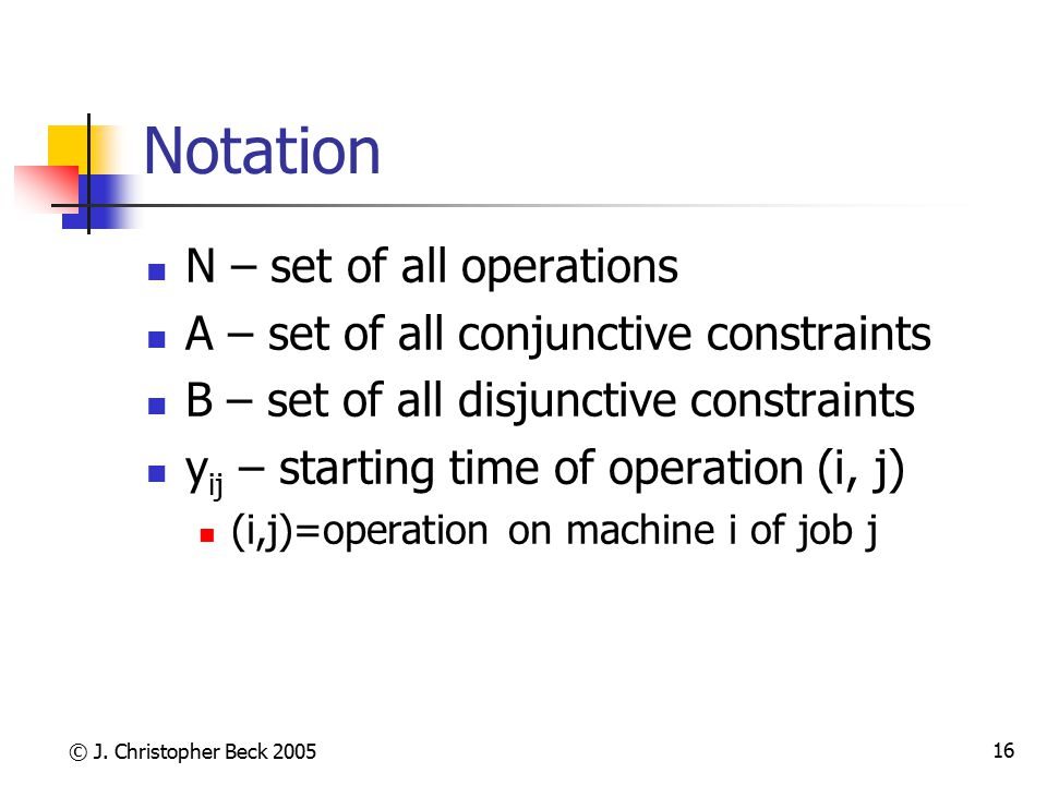 Notation N – set of all operations