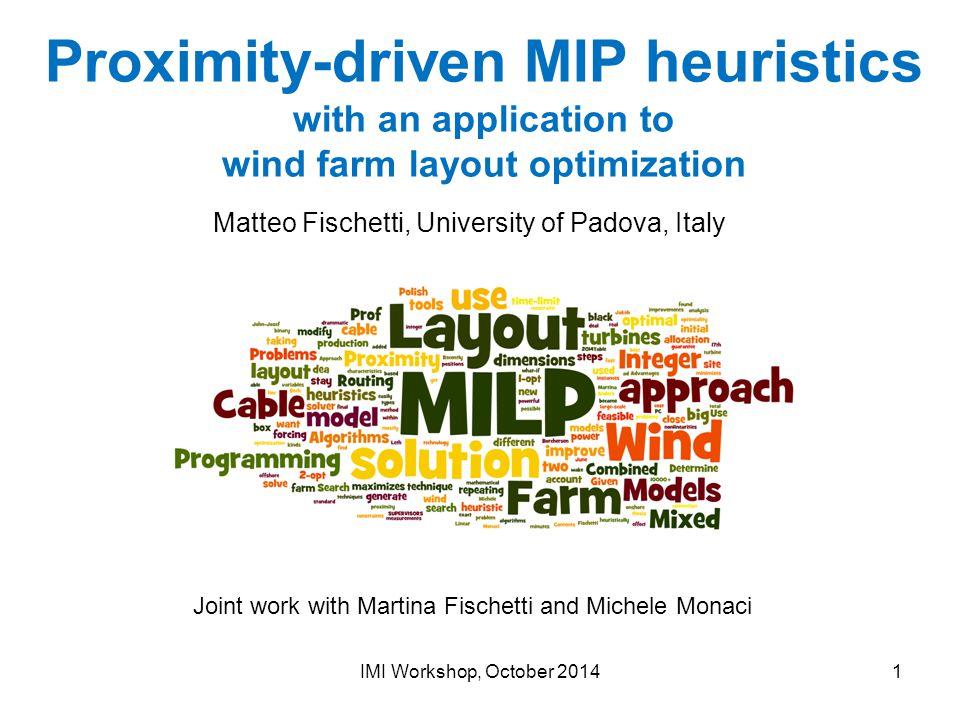 Matteo Fischetti, University of Padova, Italy