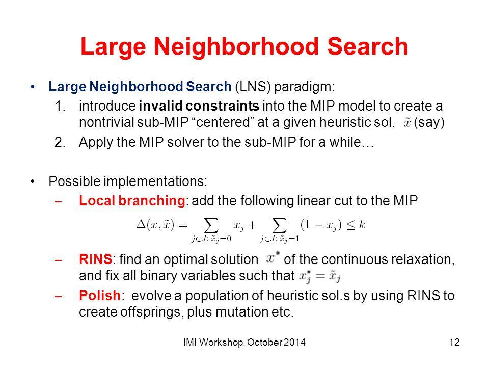 Large Neighborhood Search