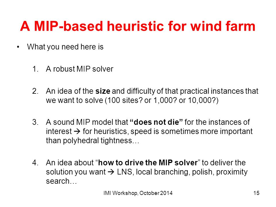 A MIP-based heuristic for wind farm