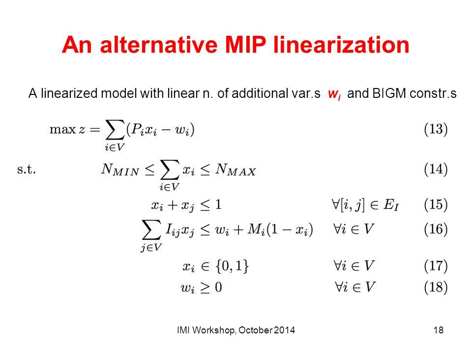 An alternative MIP linearization