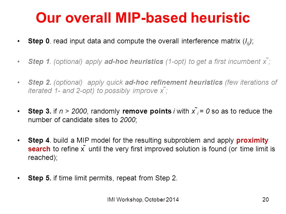 Our overall MIP-based heuristic
