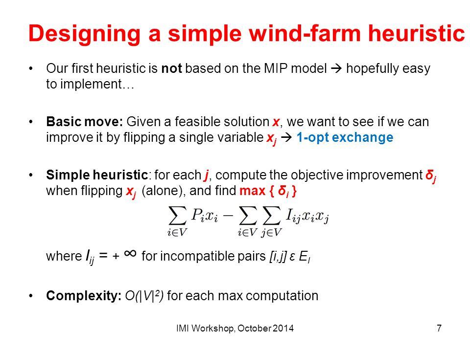 Designing a simple wind-farm heuristic