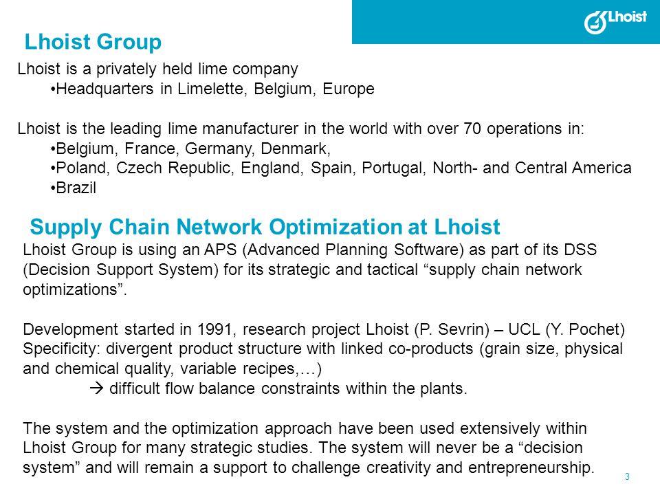 Supply Chain Network Optimization at Lhoist