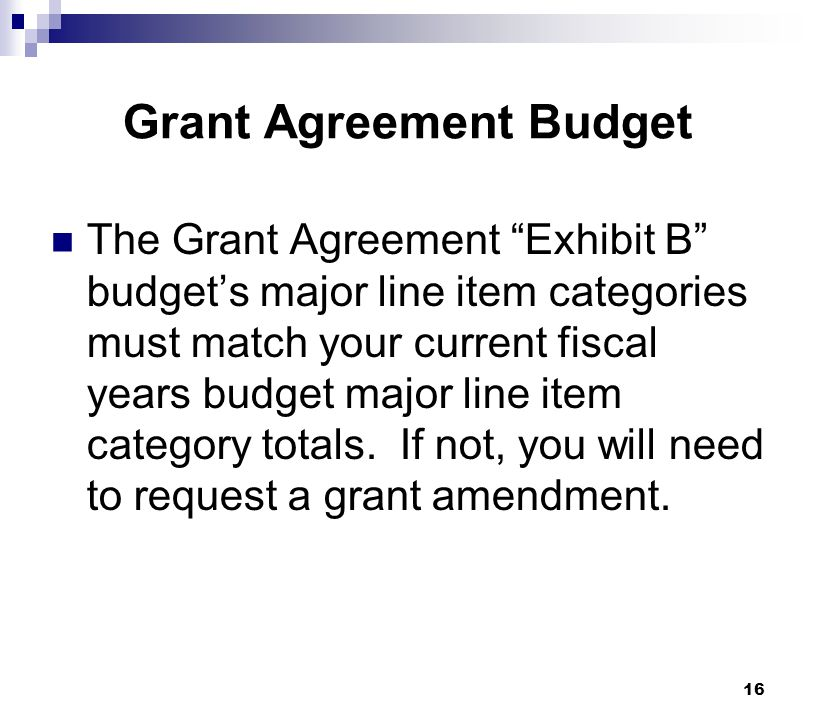 Grant Agreement Budget