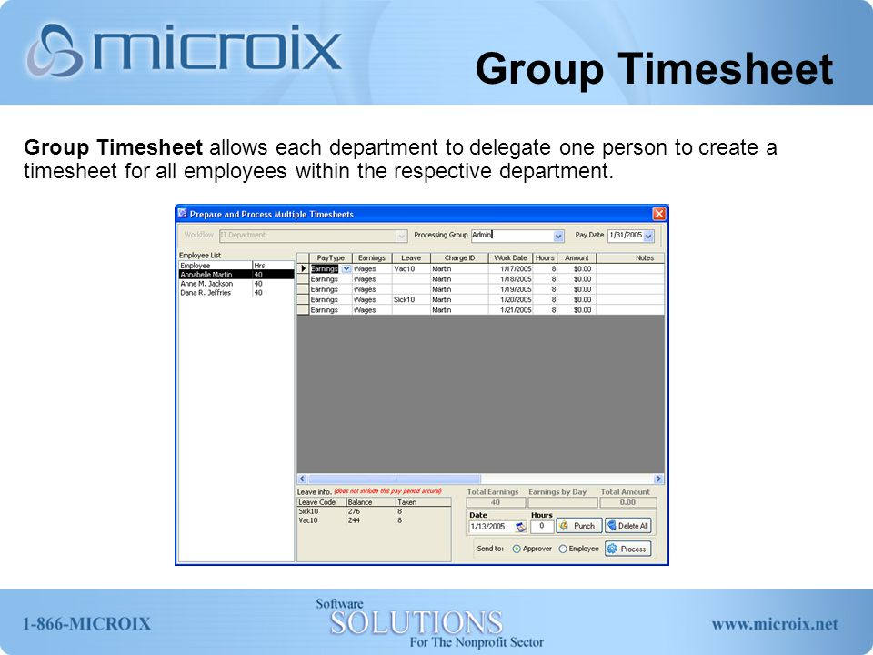 Group Timesheet