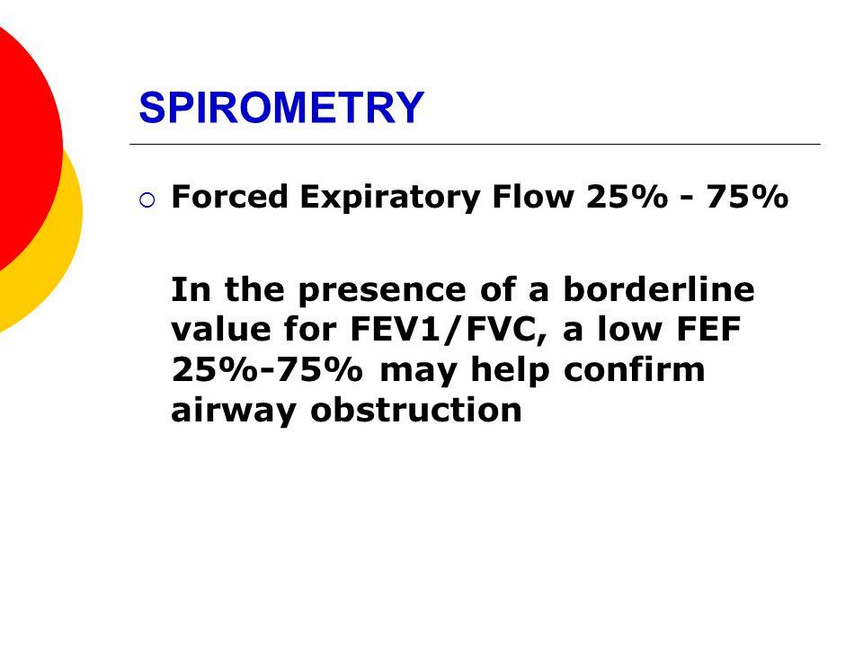 SPIROMETRY Forced Expiratory Flow 25% - 75%
