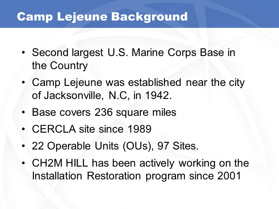 Camp Lejeune Background
