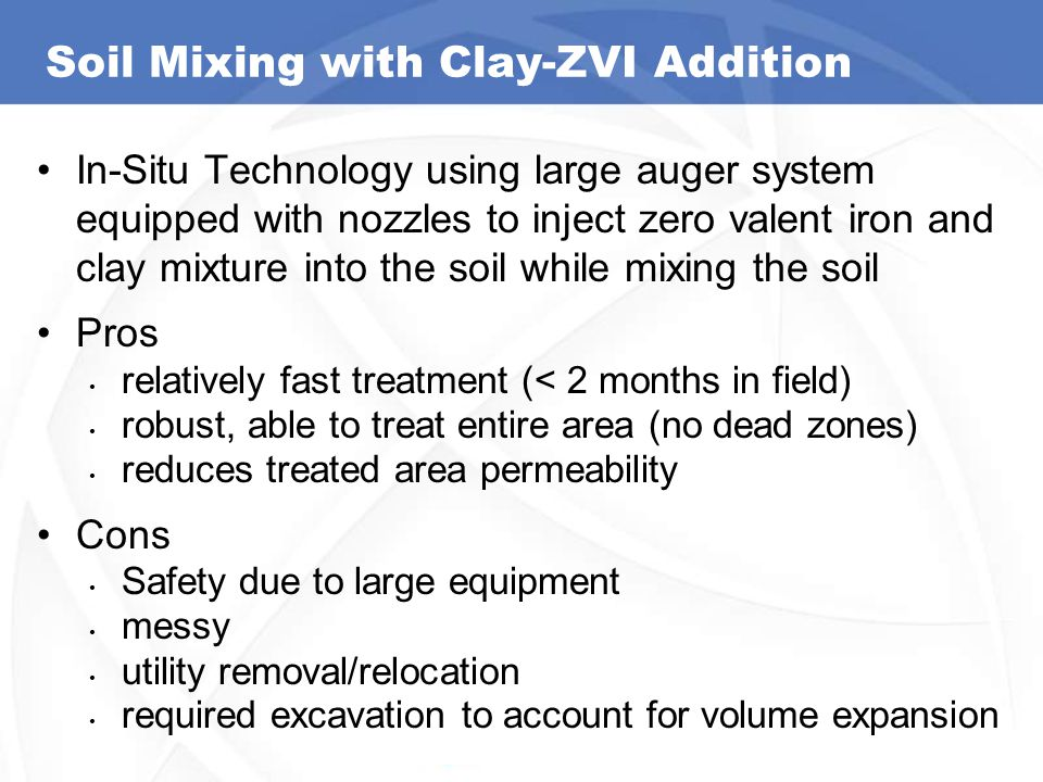 Soil Mixing with Clay-ZVI Addition