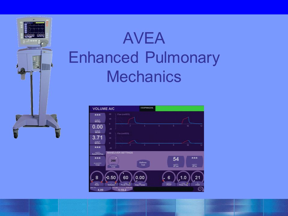 AVEA Enhanced Pulmonary Mechanics