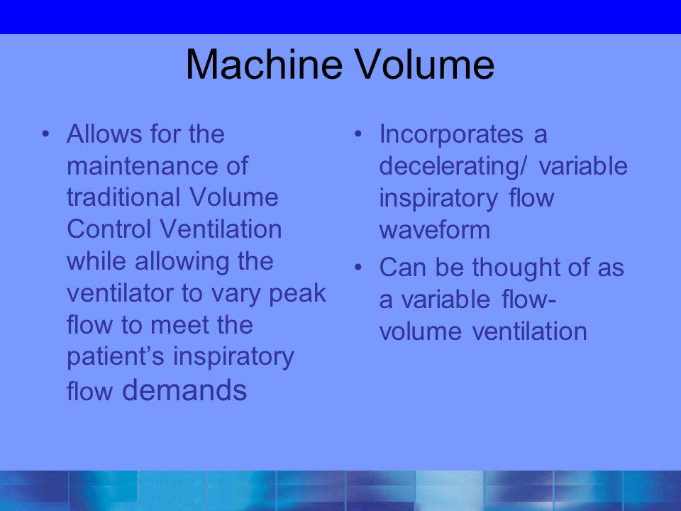 Machine Volume