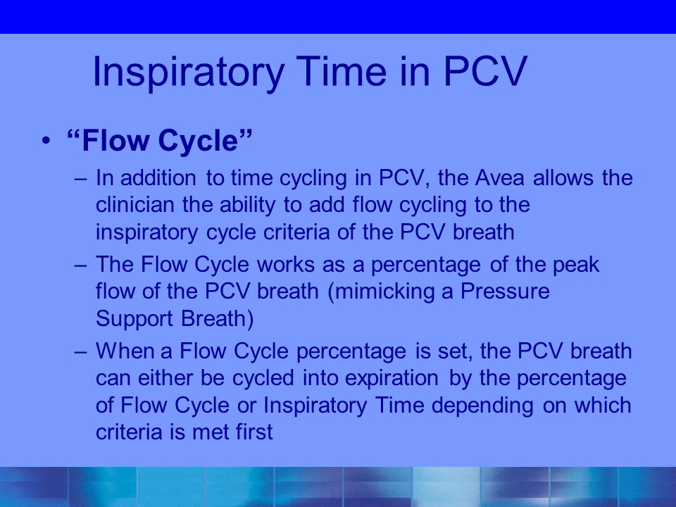 Inspiratory Time in PCV