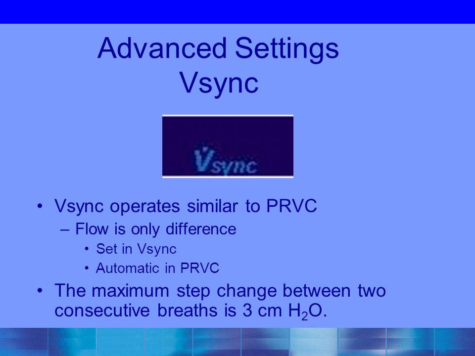 Advanced Settings Vsync